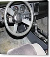 1986 Pontiac Trans Am Dashboard Canvas Print