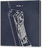1988 Motorola Cell Phone Blackboard Patent Print Canvas Print
