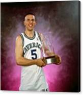 1995 Nba Rookie Of The Year - Jason Kidd Canvas Print