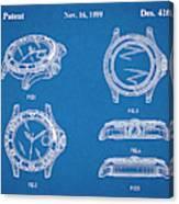 1999 Rolex Diving Watch Patent Print Blueprint Canvas Print