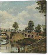 An Old Bridge At Hendon  Middlesex  Canvas Print