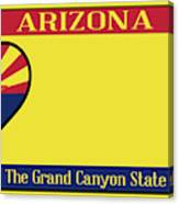 Arizona State License Plate Canvas Print