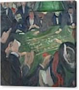 At The Roulette Table In Monte Carlo  Canvas Print