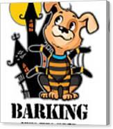 Barking Spider Halloween Design For Dog Lovers Light Canvas Print
