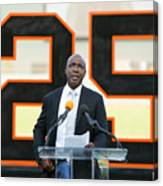 Barry Bonds San Francisco Giants Number Canvas Print