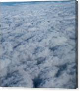 Beautiful Cloudscape High Up In The Sky. Canvas Print