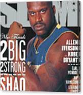 2 Big - 2 Strong: Shaq & The Lakers Double Up SLAM Cover Canvas Print