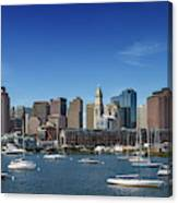 Boston Skyline North End And Financial District Canvas Print