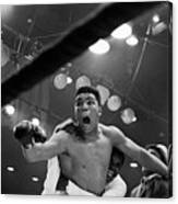 Cassius Clay After Winning Championship Canvas Print
