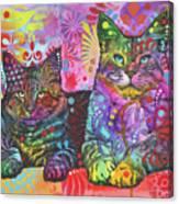2 Cats Canvas Print