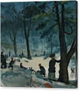 Central Park, Winter Canvas Print