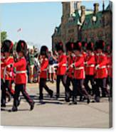 Changing Of The Guard In Ottawa Ontario Canada Canvas Print
