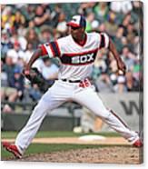 Cleveland Indians V Chicago White Sox Canvas Print