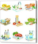 Close-up Of Food Stuff Canvas Print