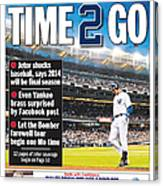 Daily News Back Page Derek Jeter 2 Canvas Print