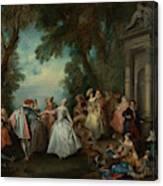 Dance Before A Fountain Canvas Print