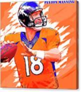 Denver Broncos.peyton Manning. Canvas Print