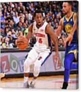 Detroit Pistons V Golden State Warriors Canvas Print