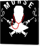 Funny Murse Male Nurse Hospital Medicine Gift Canvas Print