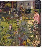 Garden At Vaucresson  Canvas Print