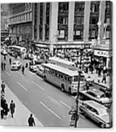 General View Of Pedestrians Crossing Canvas Print
