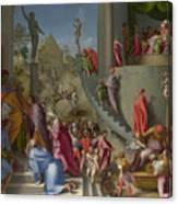 Joseph With Jacob In Egypt  Canvas Print