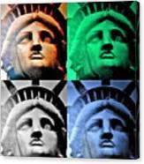 Lady Liberty In Quad Colors Canvas Print