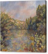 Lakeside Landscape  Canvas Print