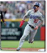 Los Angeles Dodgers V Colorado Rockies 2 Canvas Print