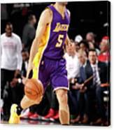Los Angeles Lakers V Portland Trail Canvas Print