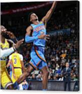 Los Angeles Lakers Vs Oklahoma City Canvas Print
