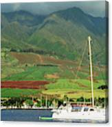 Maui Sunset Sail Canvas Print