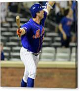 Miami Marlins V New York Mets - Game Two Canvas Print