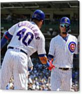 Milwaukee Brewers V Chicago Cubs 2 Canvas Print