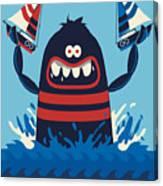 Monster Vector Design Canvas Print
