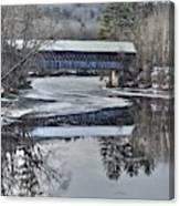 New England College Covered Bridge Canvas Print
