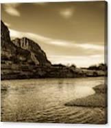 On The Rio Grande River Canvas Print