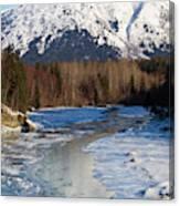 Portage Creek Portage Glacier Highway, Alaska Canvas Print