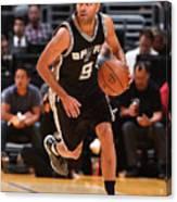 San Antonio Spurs V Los Angeles Lakers Canvas Print