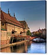 Strasbourg River Canvas Print