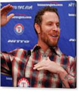 Texas Rangers Introduce Josh Hamilton Canvas Print