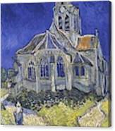 The Church In Auvers Sur Oise  View From The Chevet  Canvas Print