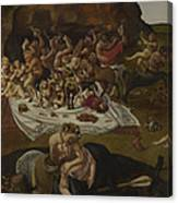 The Fight Between The Lapiths And The Centaurs  Canvas Print