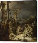 The Lamentation Over The Dead Christ  Canvas Print