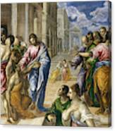 The Miracle Of Christ Healing The Blind  Canvas Print