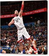 Toronto Raptors V Orlando Magic Canvas Print