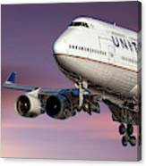 United Airlines Boeing 747-422 Canvas Print