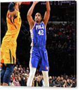 Utah Jazz V Philadelphia 76ers Canvas Print