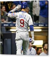 Chicago Cubs V Milwaukee Brewers Canvas Print