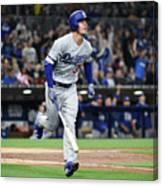 Los Angeles Dodgers V San Diego Padres 20 Canvas Print